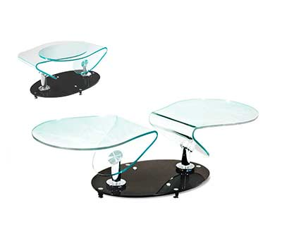 Swivel Clear Glass Coffee table BM011