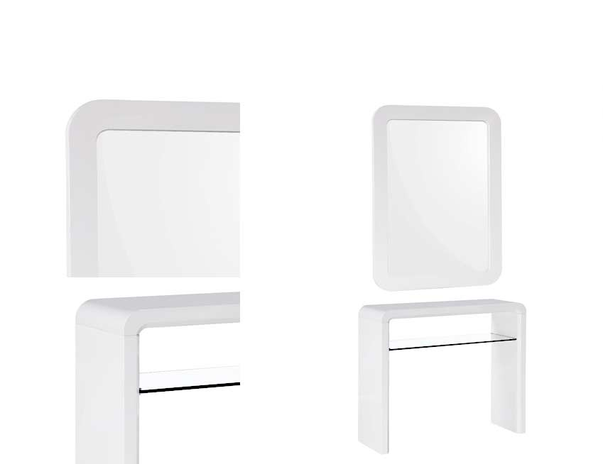 White lacquer console table bm 09 contemporary for Modern white lacquer console table