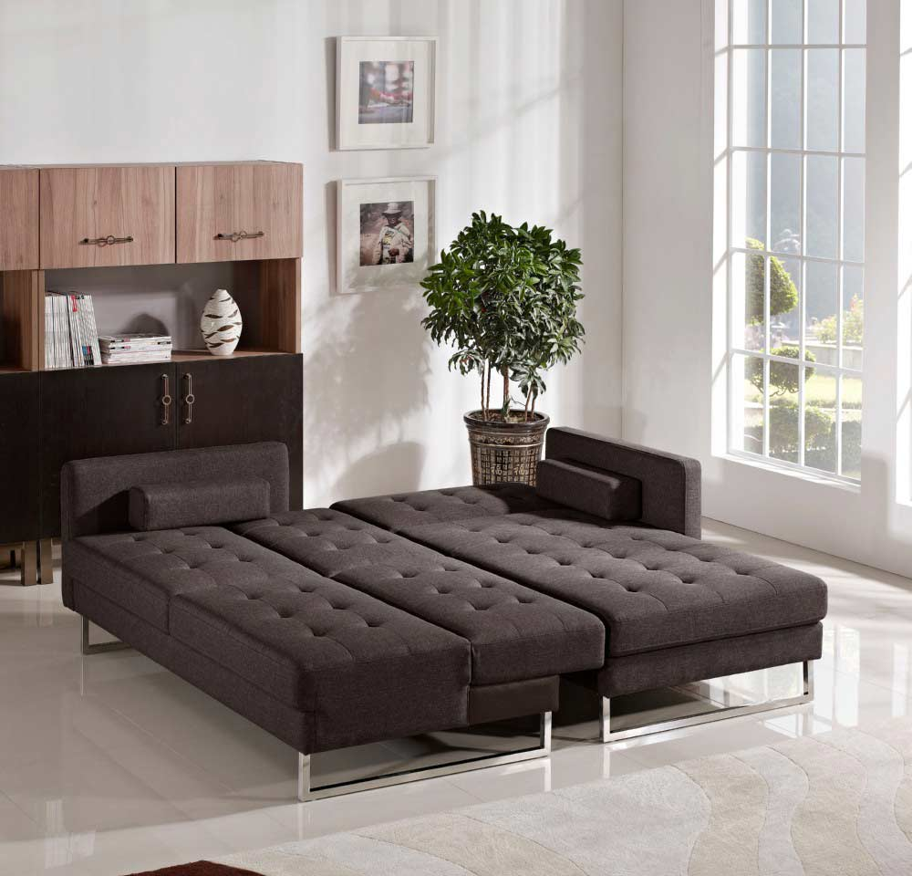 Chocolate Fabric Sofa Sleeper DS Copus Chocolate Fabric Sofa Sleeper DS  Copus ...