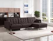 Chocolate Fabric Sofa Sleeper DS Copus