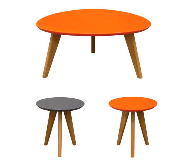 High Gloss Orange Coffee Table Contemporary