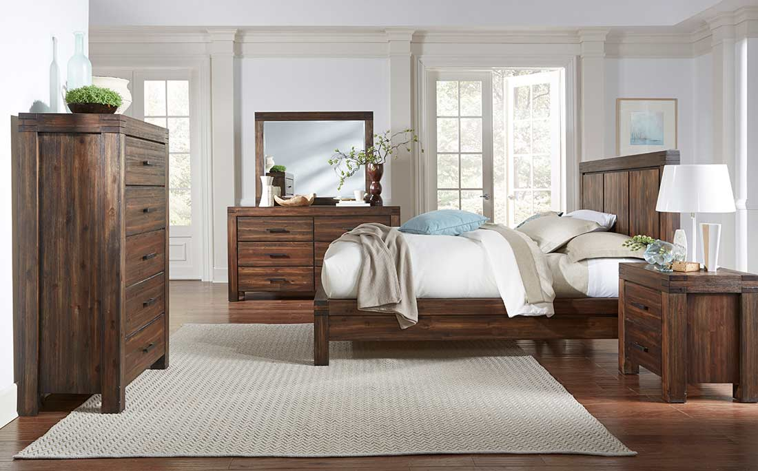 Platform Solid Wood Bed MS Field