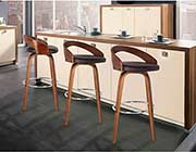 Walnut finish bar stool ArL Sonya