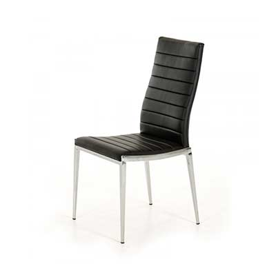 Leatherette Black dining chair VG 195