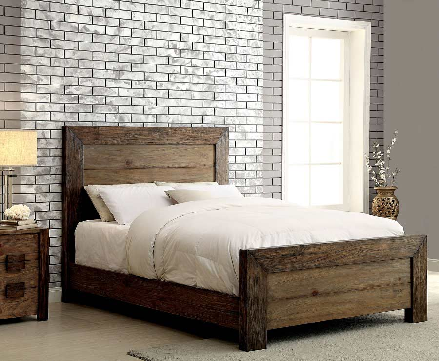 Platform Bed In Rustic Finish Fa27 Platform Beds