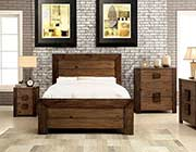Platform Bed in Rustic Finish FA27