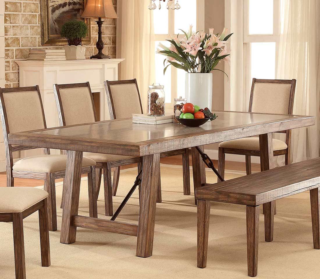 Rustic Oak Dining Table Fa562
