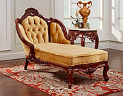 Gold Velvet Chaise Lounge 346
