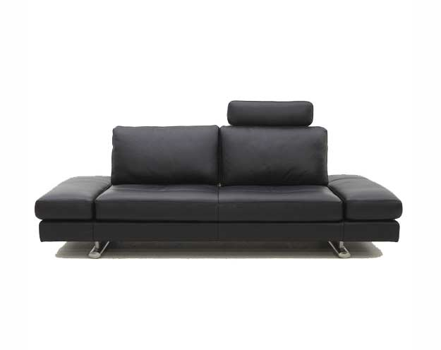 Black Leather Sofa Bed Kuka 1510
