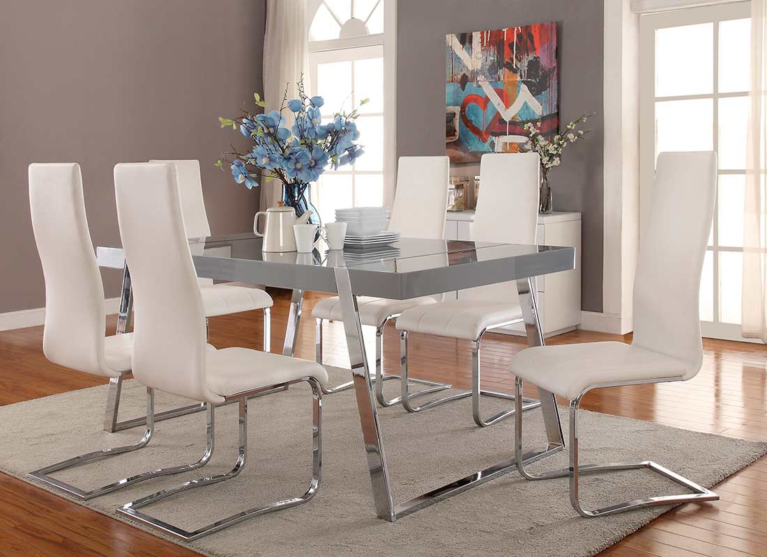 High Gloss Grey Dining Table Co011 Modern Dining