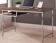 Weathered Grey Computer Desk with Shelf CO271