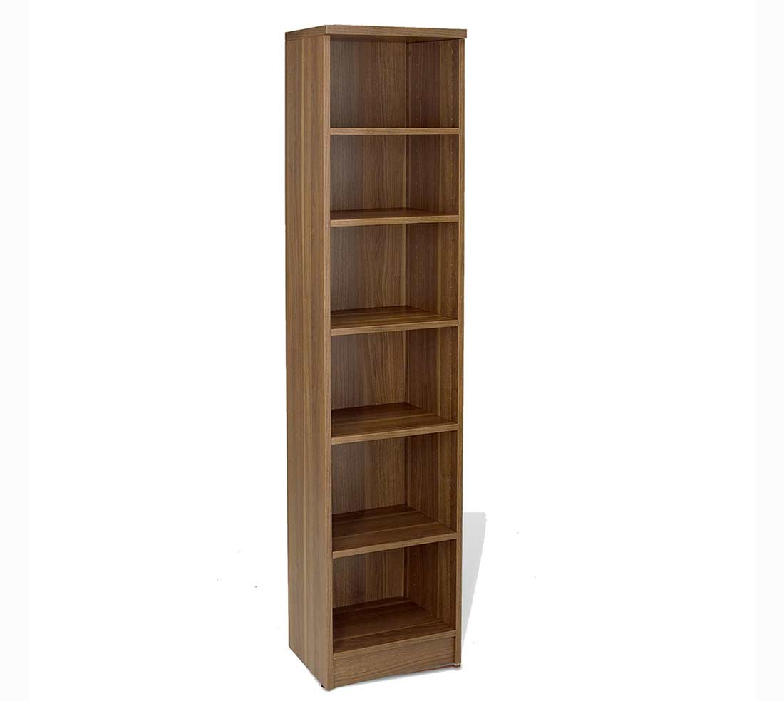 unique furniture narrow walnut bookcase 1672 unique bookcases. Black Bedroom Furniture Sets. Home Design Ideas