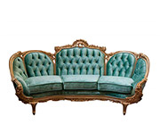 Red Velvet Provincial Sofa 634