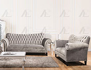 Silver Fabric Sofa Set AE604