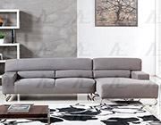 Gray Microfiber Sectional Sofa AE15
