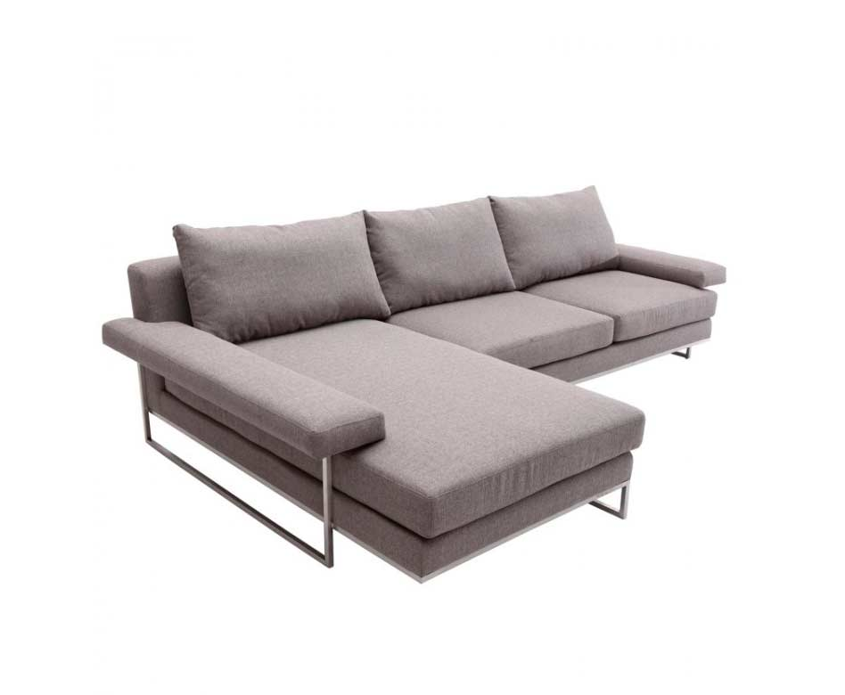 Gray fabric sectional sofa arl veena fabric sectional sofas for Sectional furniture