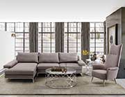 Gray Fabric Sectional Sofa ARL Veena