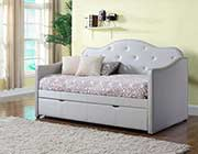 Grey Leatherette Daybed CO629