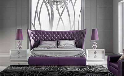 Purple Leather Bed EF Mercedes