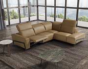Italian Leather Sectional Sofa in Honey JM Stream