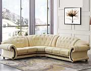 Beige Leather Sectional Sofa EF Ares