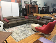 Top Grain Leather Sectional Sofa Sparta