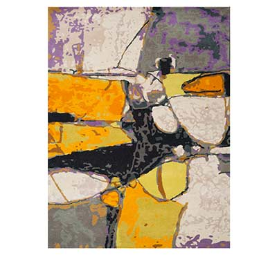 Abstract Art Wool Rug FR 310