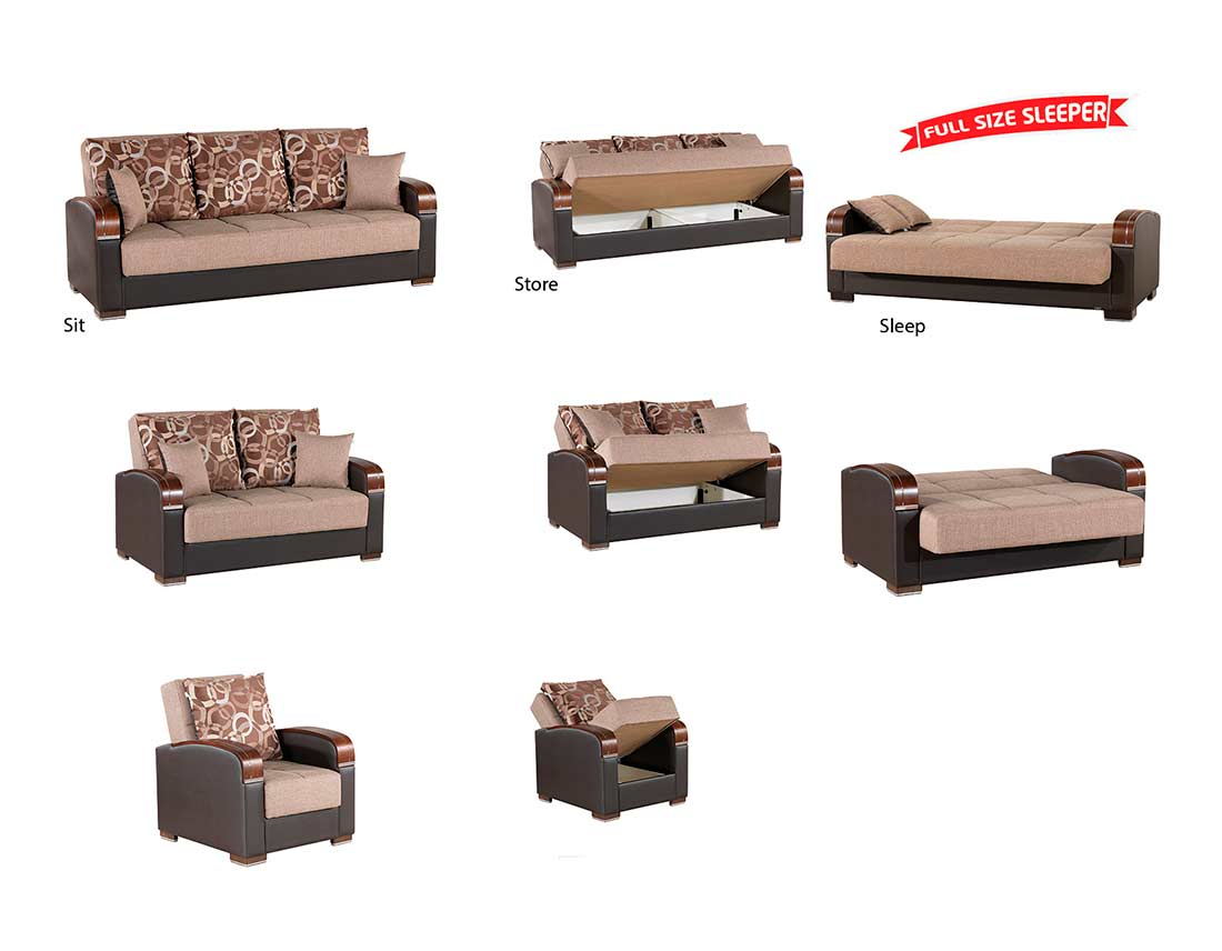 Prada Sofa Full Size Sleeper In Orange Sofa Beds