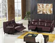 Dark Red Power Recliner Sofa AE 07