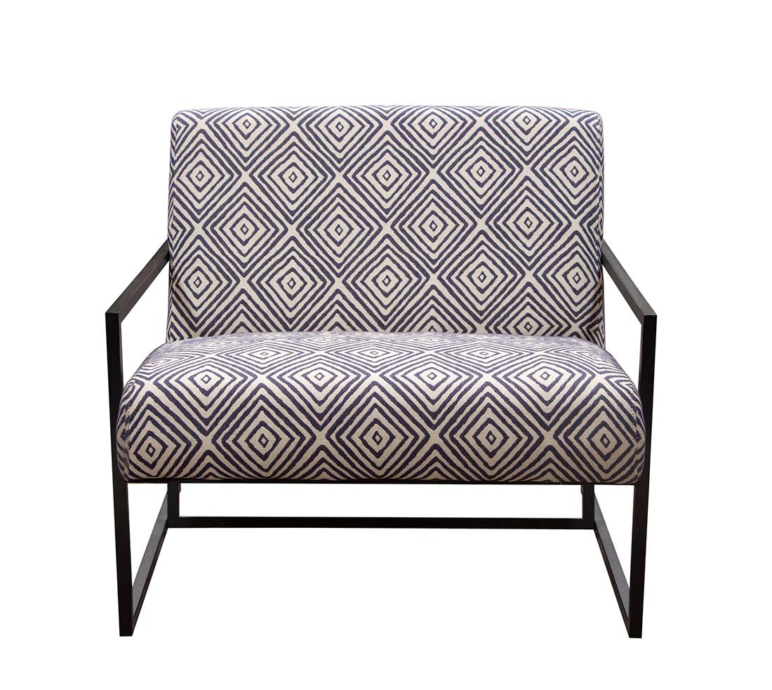 Geometric Pattern Accent Chair DS Deluxe ...