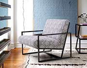 Geometric Pattern Accent Chair DS Deluxe