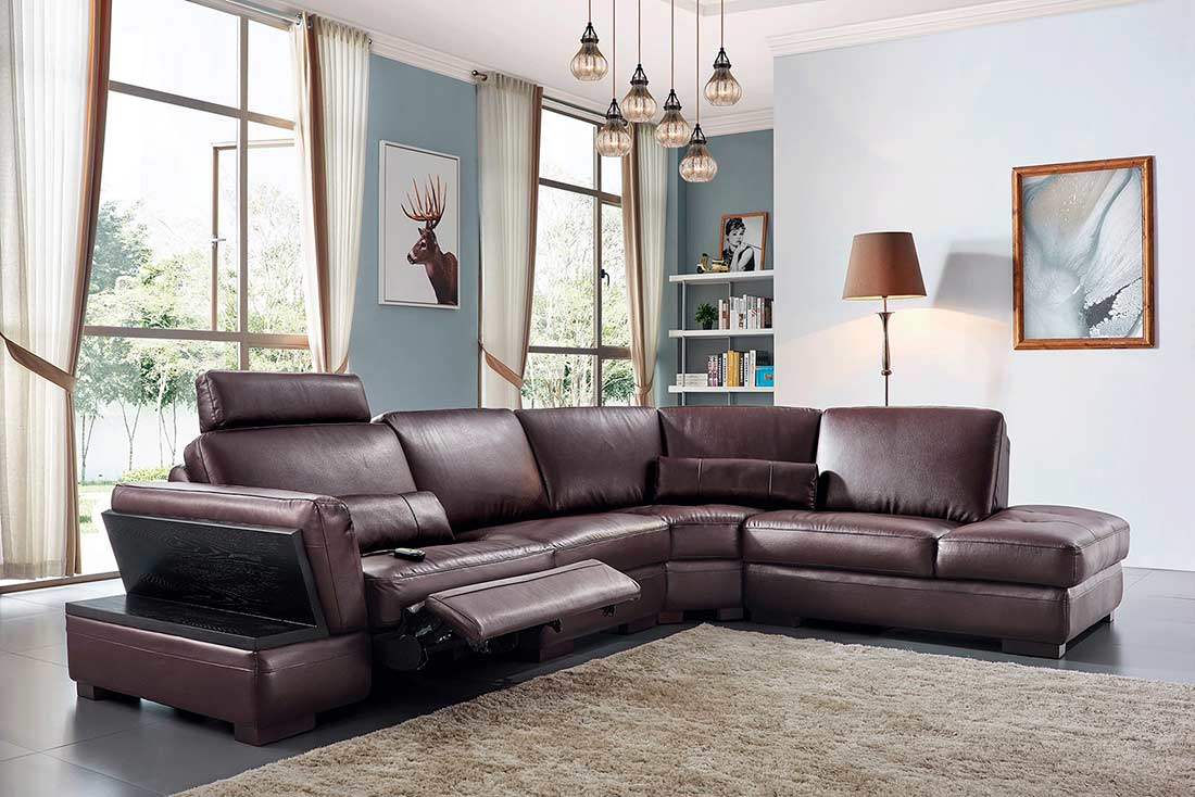 Electric Recliner Sectional Sofa Ef 45 Leather Sectionals