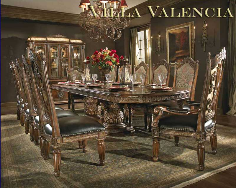 Villa valencia round table dining by aico aico dining for Classic dining room furniture