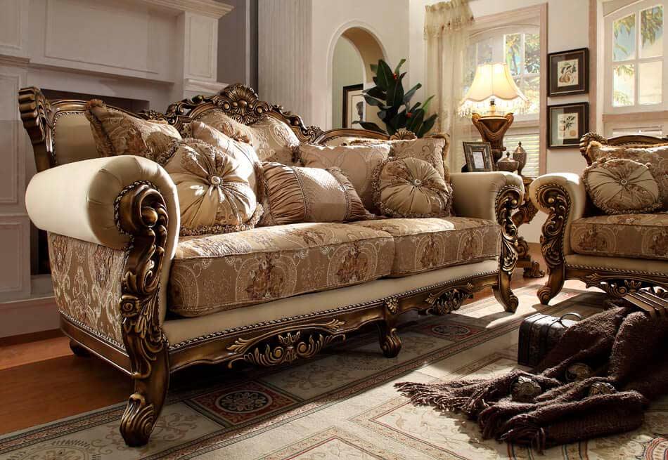 Classic Design Sofa Set Hd 605 Fabric Sofas