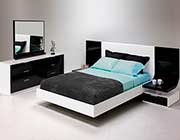 High Gloss Modern Bed SH Moon