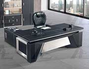 Black Faux Leather Desk AE 88