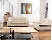 Light Gray Genuine Leather Sofa set AE 113