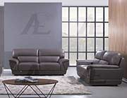 Dark Tan Leather Sofa set AE 99