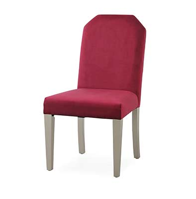Red Fabric Dining Chair Sofia