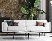 Majorca 592 White Leather sofa by Moroni