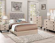 Gray Tufted Bed Collection 524