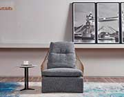 Gray Fabric Down Filled Accent Chair AE 25