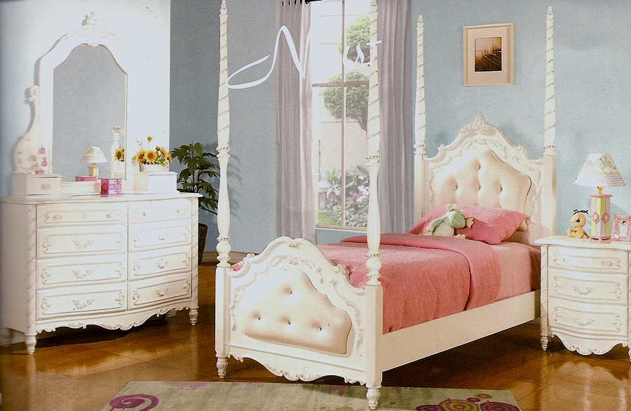 Pearl White Youth Bed Ac 995 Kids Bedroom