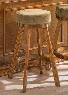 Bar Stool Tan Fabric Oak Finish Bar Stools