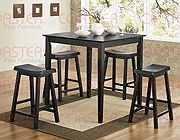 5pc Counter Height Tablein Black