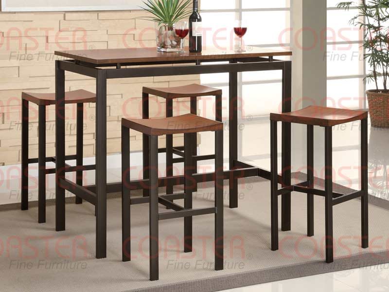 Atlas Counter Height Dining Set Light Oak Finish