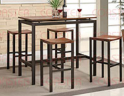 Atlas Counter Height Dining Set, Light Oak Finish