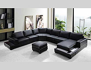 VG-RZ Modern Black Sectional Sofa