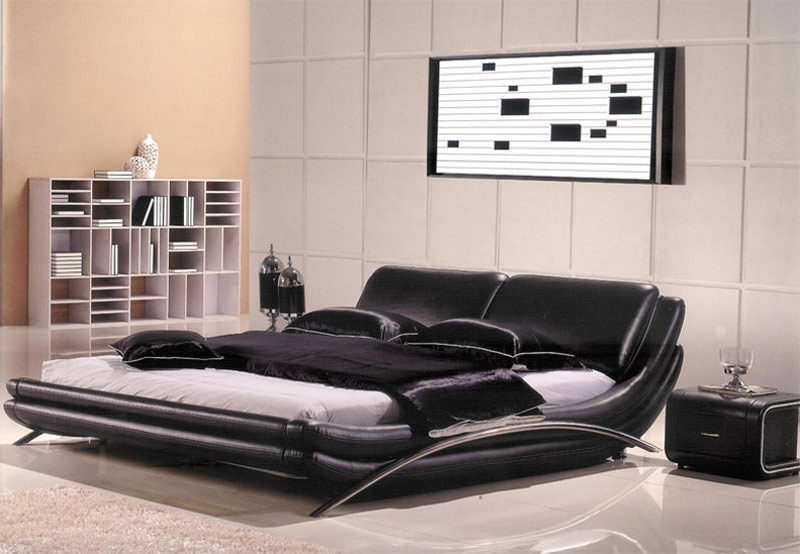 Modern leather bedroom ae82 modern bedroom furniture for Modern home furniture