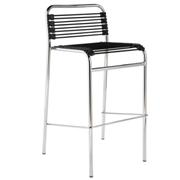 Beetle Bar Stool Black Chrome